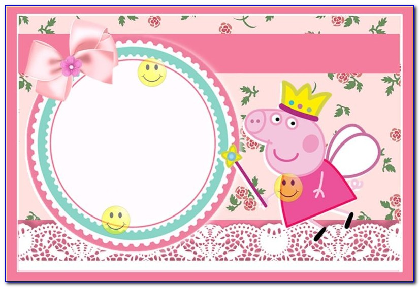 Peppa Pig Party Invitation Wording