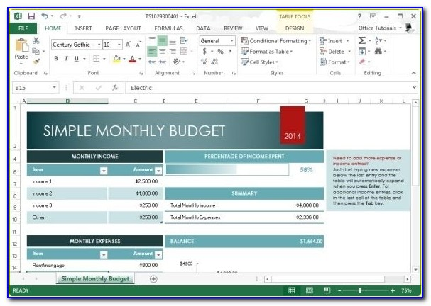 Personal Budget Planner Excel Template Free