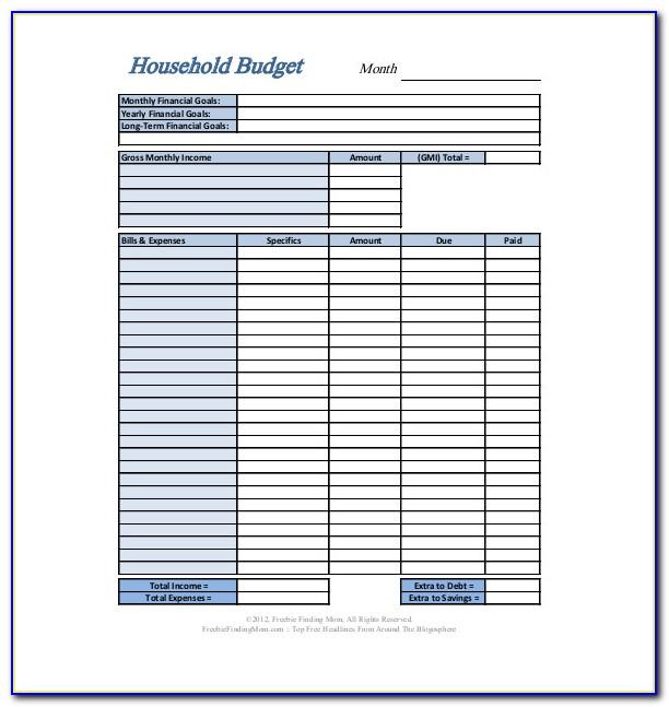 Personal Budget Sample Pdf