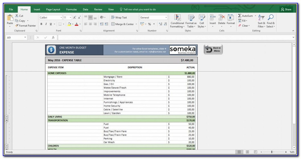 Personal Budget Template Uk Excel