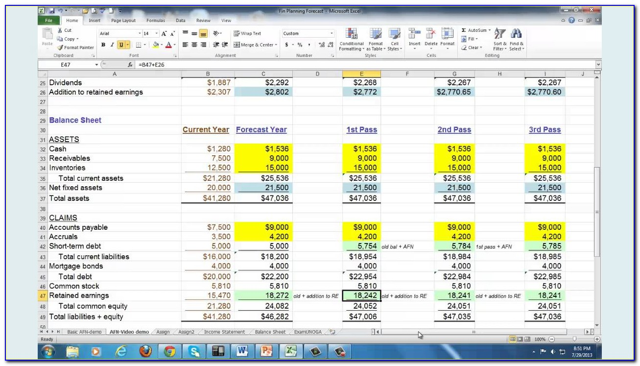 Personal Financial Planning Excel Templates