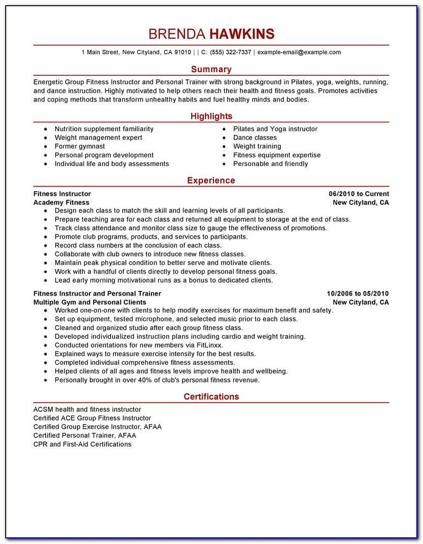Personal Fitness Contract Template
