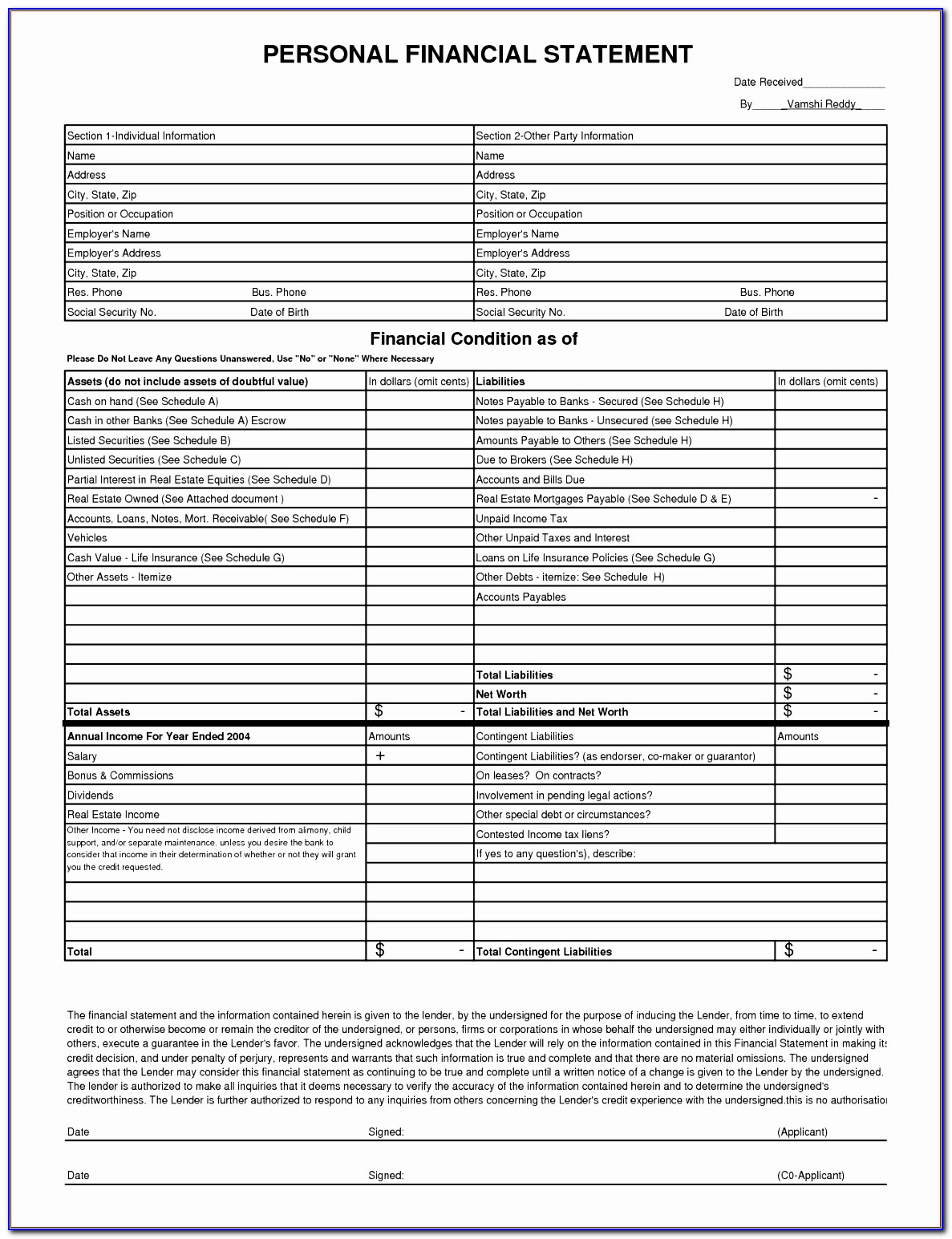 Personal Monthly Expense Sheet Excel Template