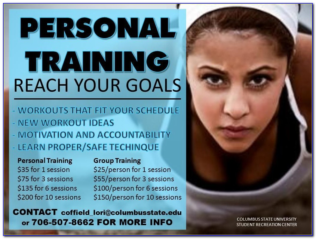 Personal Trainer Flyer Template Word