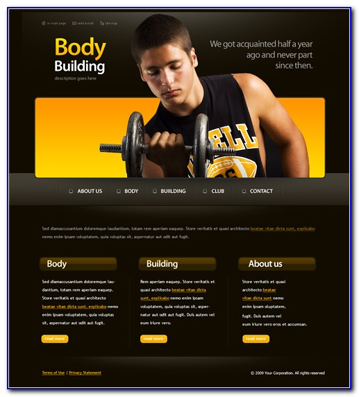 Personal Trainer Web Page Template