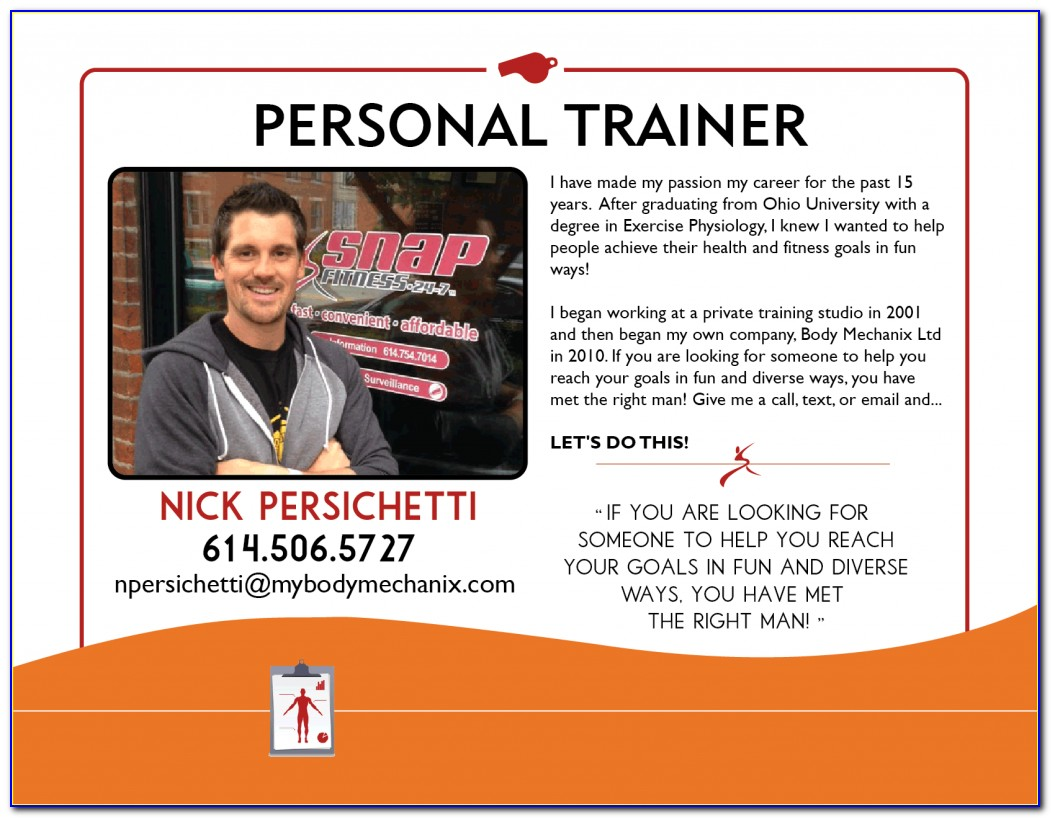 Personal Training Biography Examples