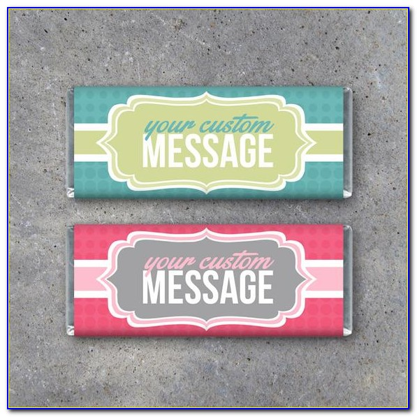 Personalised Chocolate Bar Wrapper Template