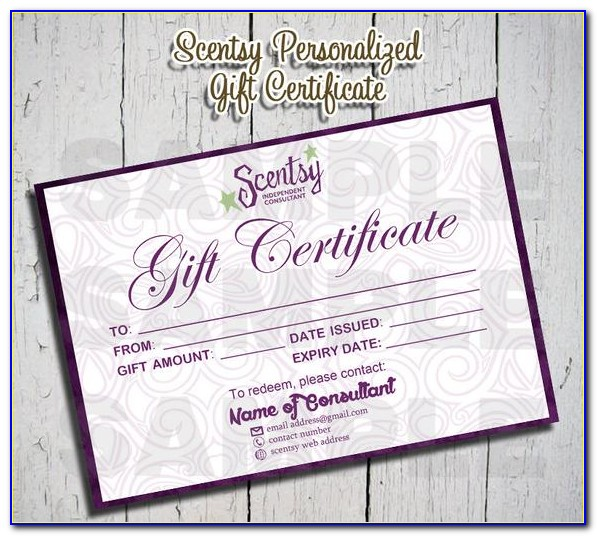 Personalized Gift Certificate Template