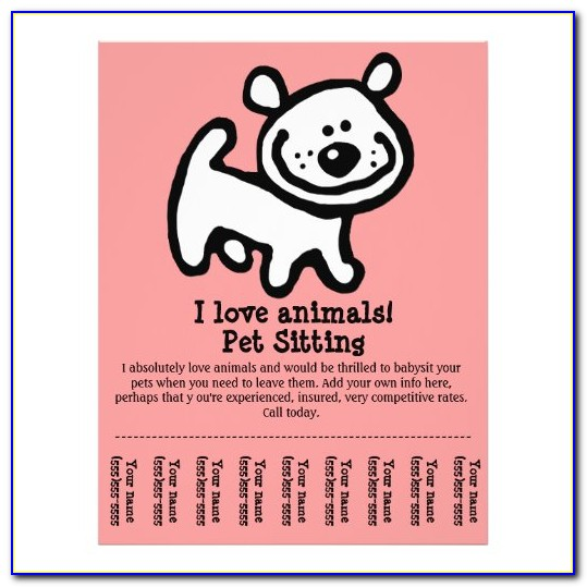 Pet Sitter Checklist Template Free