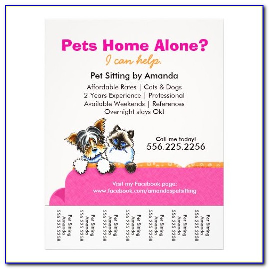 Pet Sitter Flyer Template Free Download