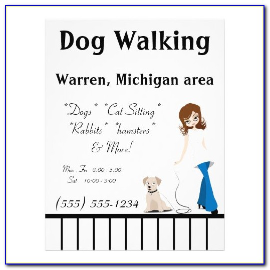 Pet Sitter Flyer Templates Free