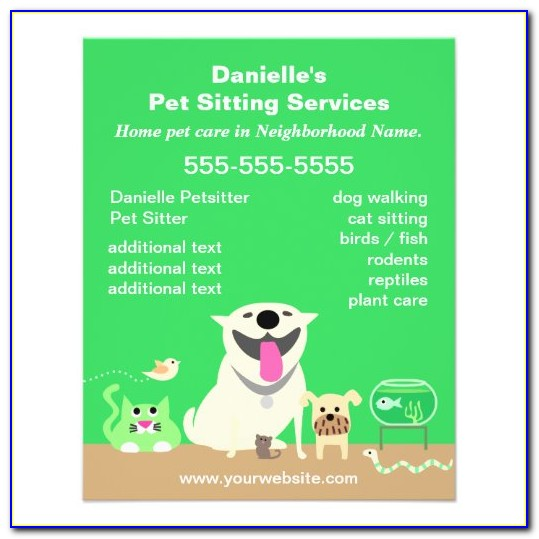 Pet Sitting Brochure Template Free