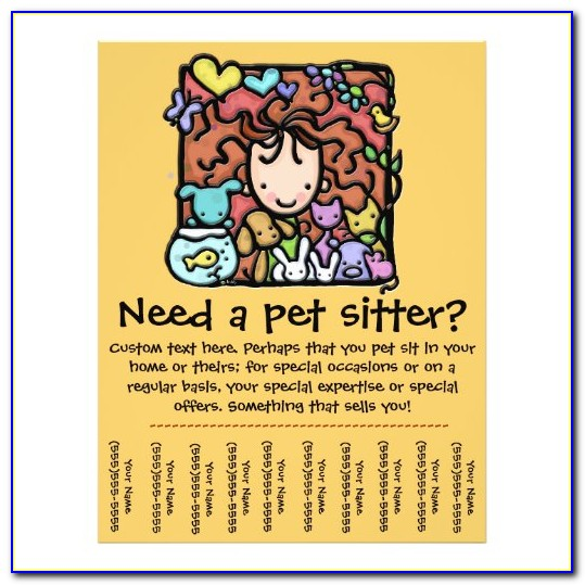 Pet Sitting Flyer Templates Free