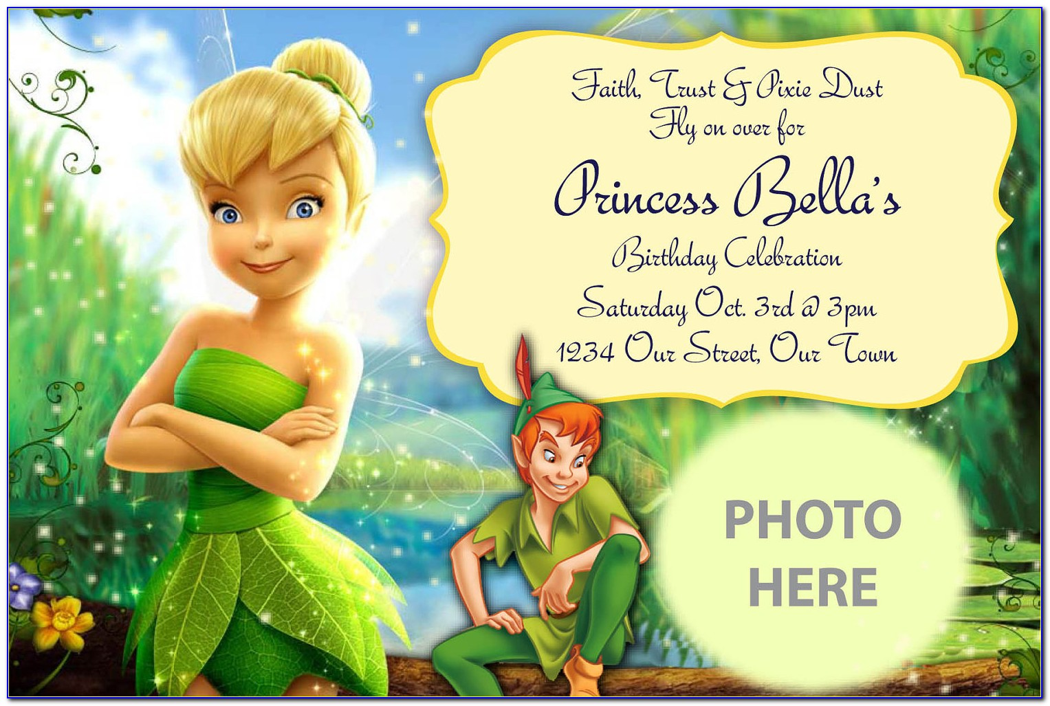 Peter Pan Baby Shower Invitation Template