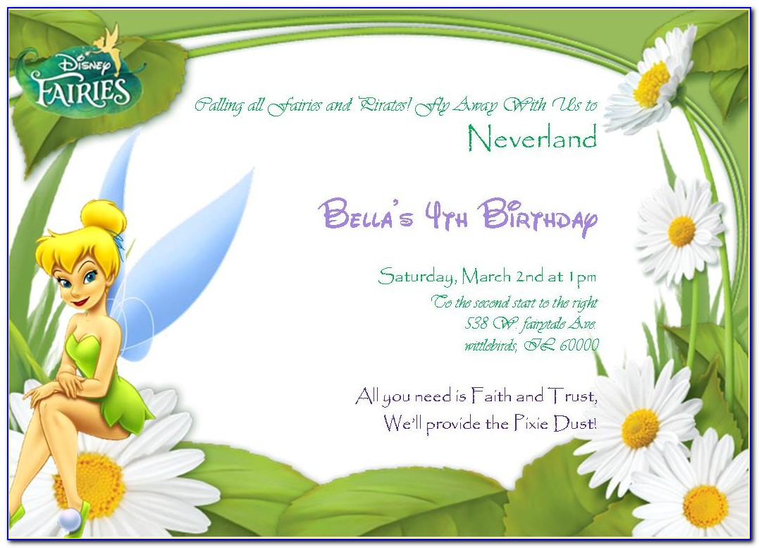 Peter Pan Party Invitation Template