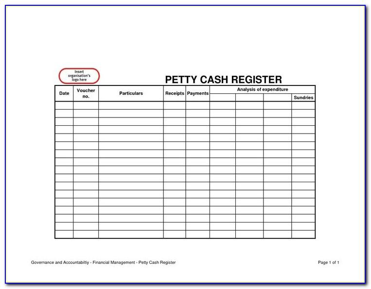 Petty Cash Reconciliation Form Sample