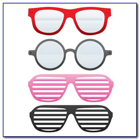 Photo Booth Glasses Prop Templates