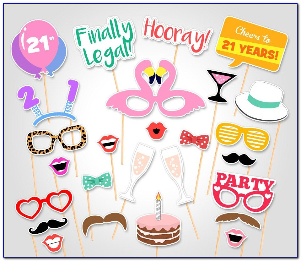 Photo Booth Graduation Props Templates