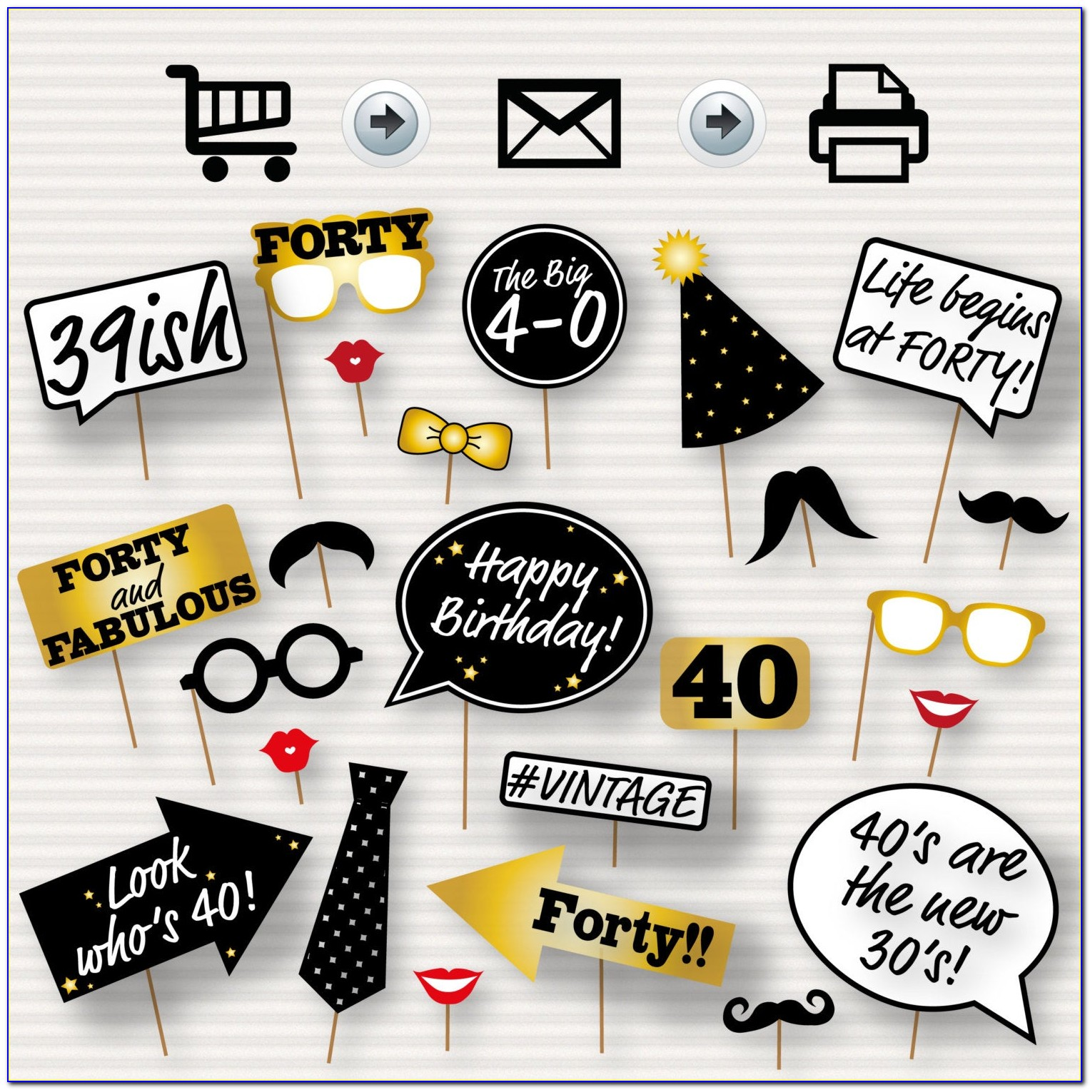 Photo Booth Props Printable 18th Birthday