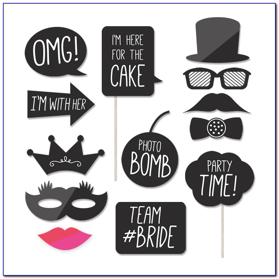 Photo Booth Props Template Free Download