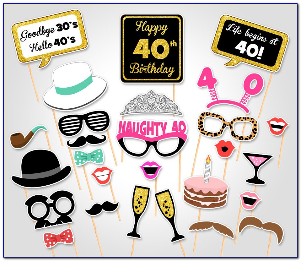 Photo Booth Props Template Pdf
