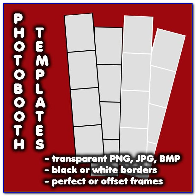 Photo Booth Strip Frame Template
