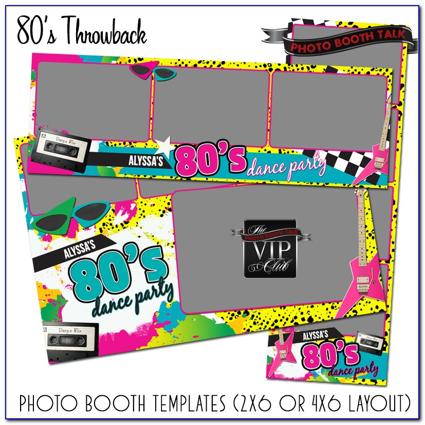 Photo Booth Strip Template Free Download