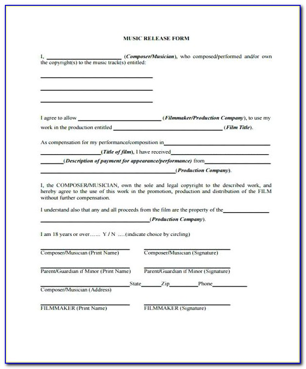 Photo Consent Form Template Free