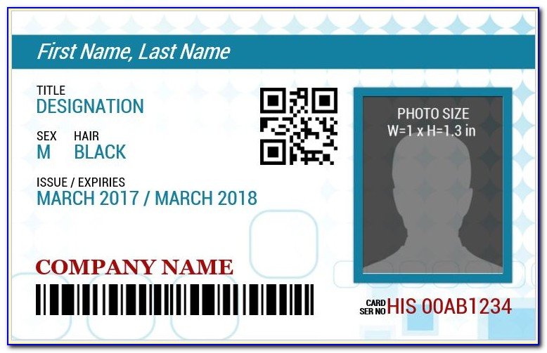 Photo Id Name Badge Template