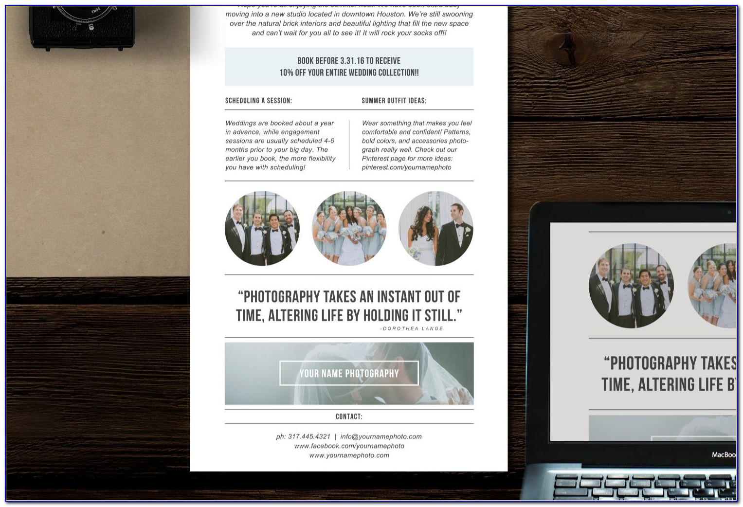 Photographer Email Marketing Templates