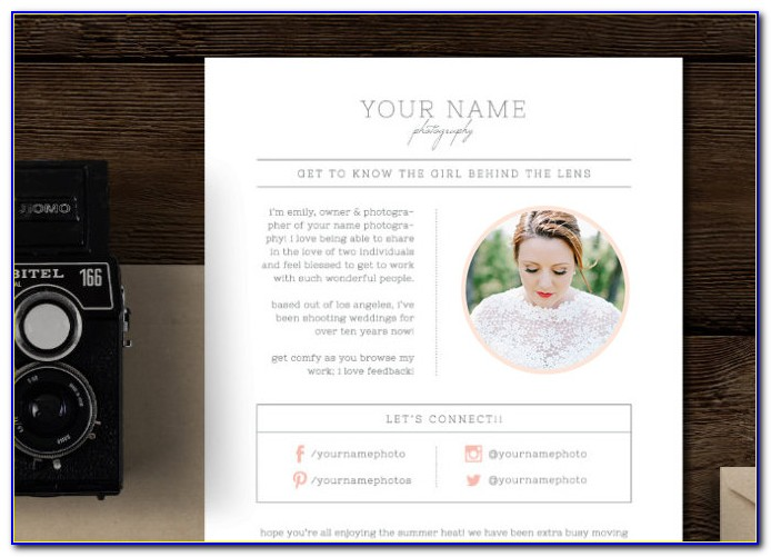 Photographer Email Templates Download