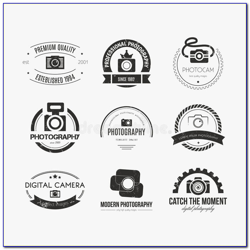 Photography Logo Template Illustrator
