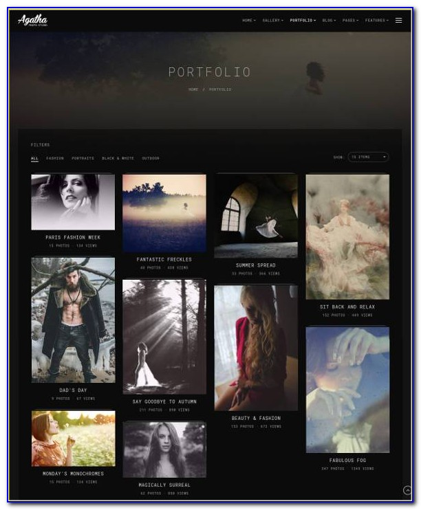 Photography Responsive Website Template Free Download