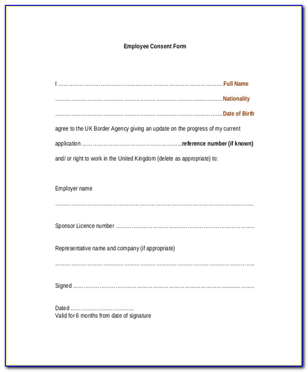 Photography Waiver Form Template