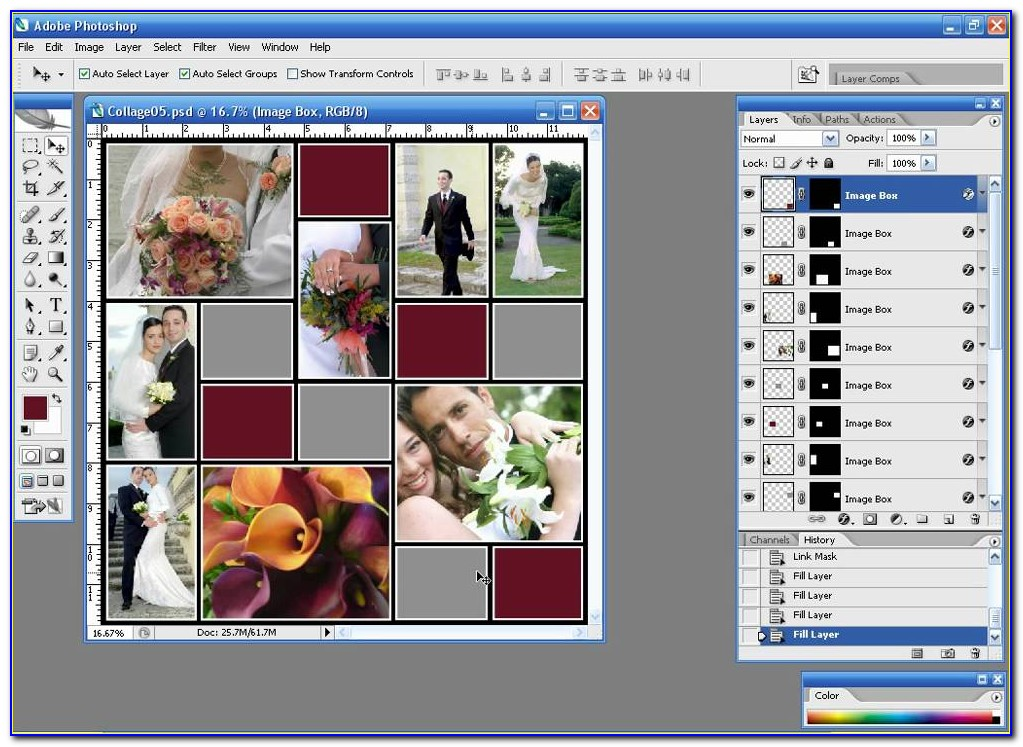 Photoshop Photo Collage Template Psd
