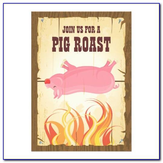 Pig Roast Invitation Samples