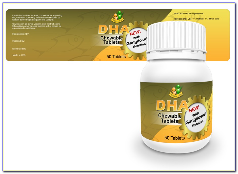 Pill Bottle Label Template Photoshop