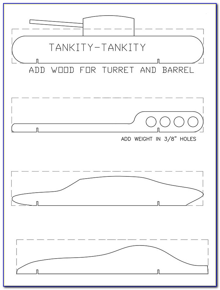 Pinewood Derby Car Templates Download