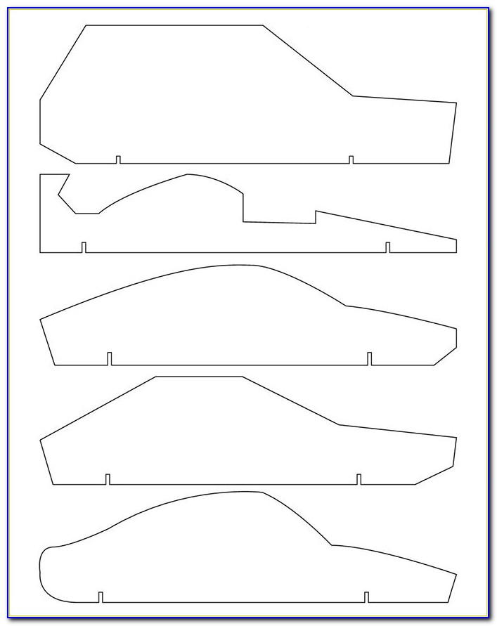 Pinewood Derby Car Templates Free Download
