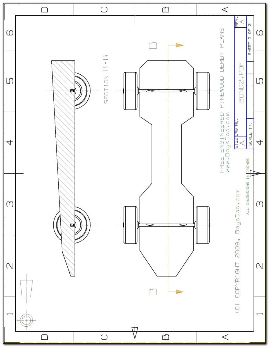 Pinewood Derby Car Wedge Design Templates