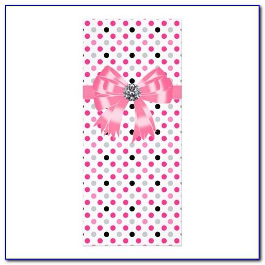 Pink Polka Dot Invitation Template