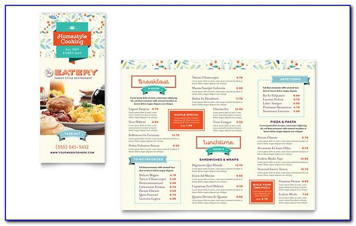 Pizza Menu Template Word Free