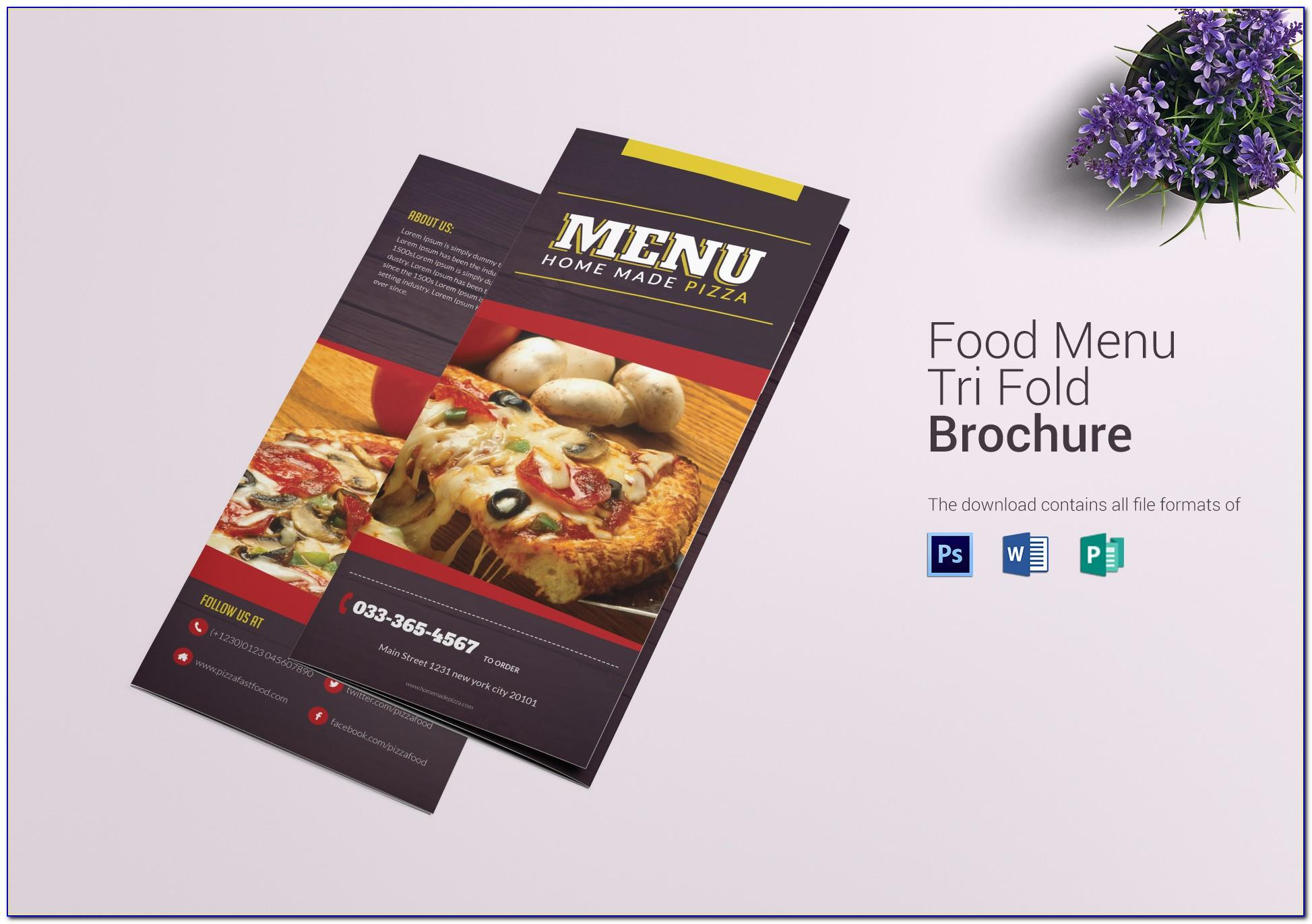 Pizza Menu Templates Free Downloads