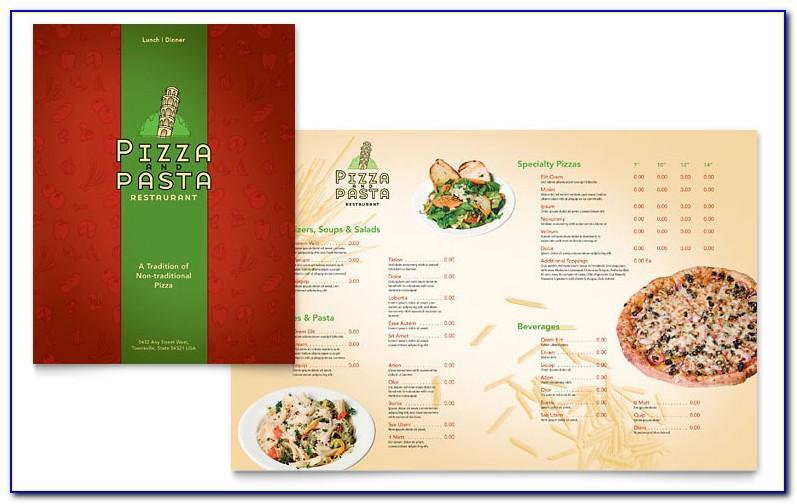 Pizza Menu Templates Psd