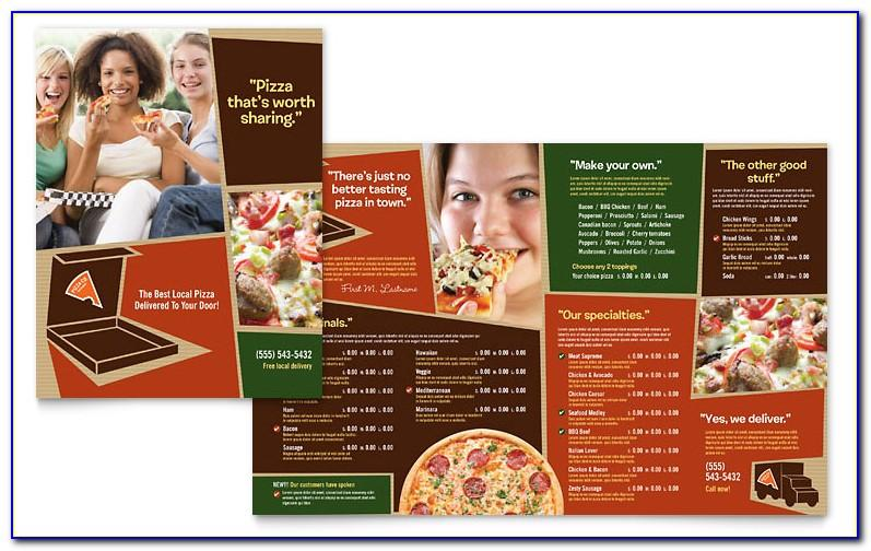 Pizza Menu Templates Publisher