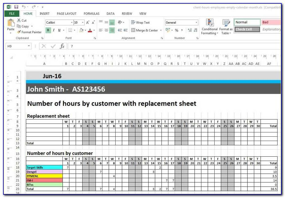 Pl Statement Template Monthly