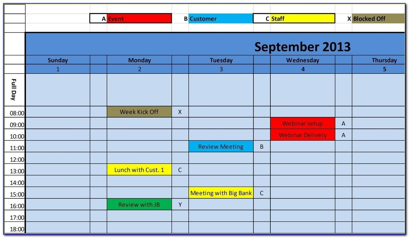 Planner Template Excel 2019