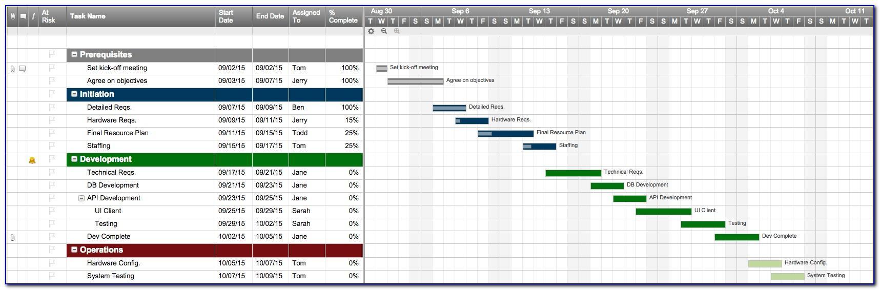Planning Calendar Template Excel
