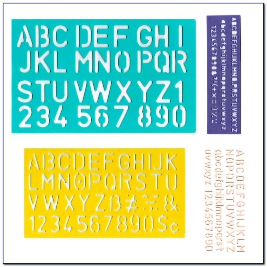 Plastic Alphabet Letter Templates