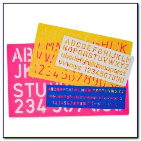 Plastic Letter Stencils Michaels